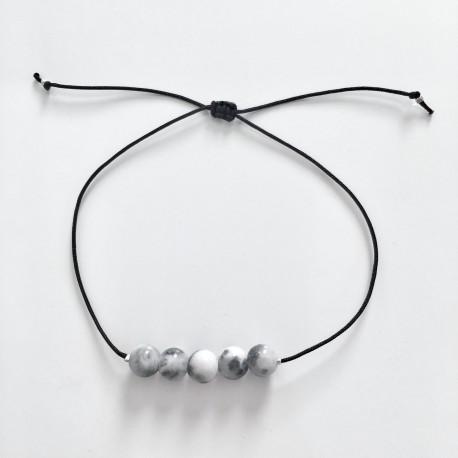 Gris Chiné Bracelet Femme