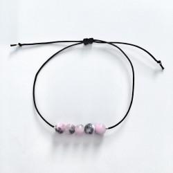 Rose Chiné Bracelet Femme