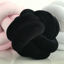 Patte de Velours Noir Coussin Noeud