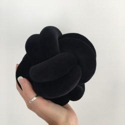 Patte de Velours Noir Coussin Noeud XS