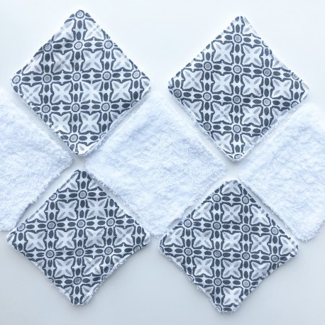 Carreaux Semainier Carrés de Coton Lavables