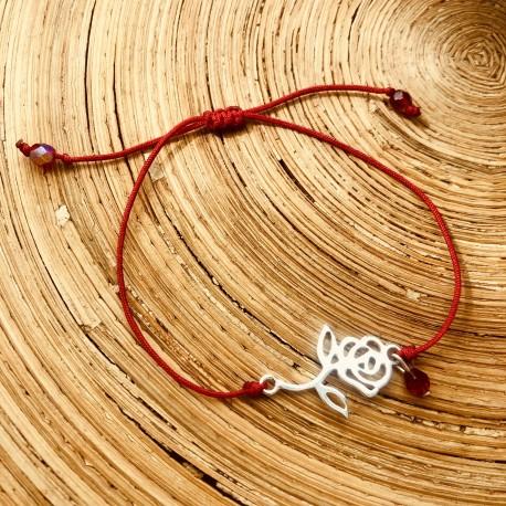 Rose Rouge Bracelet Femme
