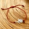 Rose Rouge Bracelet Femme en Argent 925